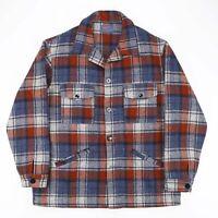 Vintage PENDLETON 60s Made In USA Blue Checked Shirt Jacket Men's Size Large