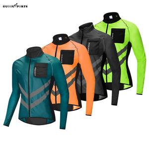 Men's High Visible Cycling Jacket Hi-viz Bike Jackets Hiking Camping Jerseys