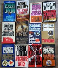 Lot of 12 Robert Ludlum Thrillers Patrick Larkin free shipping