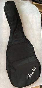 Custodia Fender Per Chitarra Acustica Nera Con Tracolla E Tasca