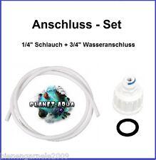 Wasserfilter Anschluss SET 3/4 Adapter + 1/4 Osmose Schlauch Osmoseanlage Filter