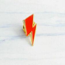 David Bowie / Aladdin Sane Lightning Bolt Enamel Lapel Metal Pin Badge