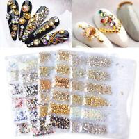 1400Pcs 3D Nail Rhinestones Sticker Cabochons Glitter Gems Rhinestone Nail Decor
