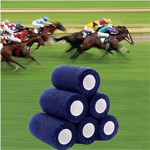 12 BANDAGES COHESIVE HORSES PETS 10cmx4.5mt NAVY BLUE Free Post Australia
