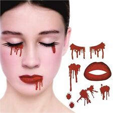 VAMPIRE FACE TEMPORARY TATTOO KIT ADULT KIDS BLOOD HALLOWEEN FANCY DRESS V51 240
