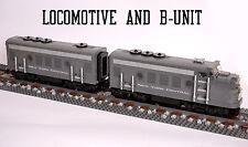 Custom Lego NYC New York Central Passenger Train NEW 10020 10025 10219 10194