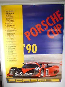 1990 Porsche 962 Porsche Cup Showroom Advertising Sales Poster RARE Dealership
