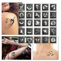 25 Three-layer Adhesive Stencils for Face Painting, Air Brushing or Glitter