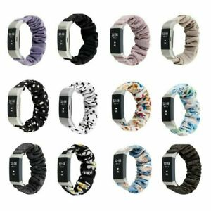 For Fitbit Charge 3 4 Scrunchie Soft Elastics Loop Band Strap Wristband
