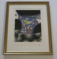 "ERTE Erte/'s 89th Birthday 30.5/"" x 23/"" Serigraph 1981 Art Deco Black /& White,"