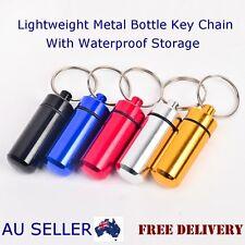 Quality Metal Bottle Pill Shaped Waterproof Storage Medicine Keychain Keyring
