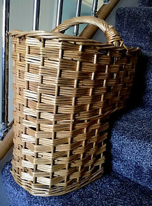 Wicker Stair Basket Sturdy Strong Very Good Condition