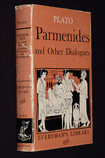 Plato, Parmenides and Other Dialogues, 1961, HC DJ, Everyman's Library #456