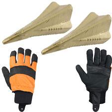 More details for 4 way log grenade fire wood splitter maul wedge spike x 2 + safety gloves large