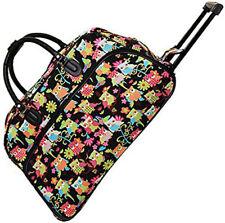 "Women's Owl Print 21"" Rolling Duffel Bag Suitcase Garment Carry-on Duffel Bag"