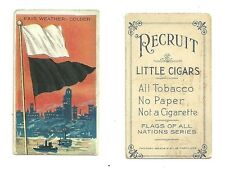 Recruit Cigars Cigarette Tobacco Card Yacht Color Flag Fair Weather Colder