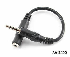 """6"""" CablesOnline 3.5mm (1/8"""") Stereo TRRS 4-Pole Male to Female Cable, AV-2400"""