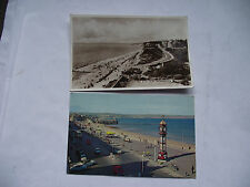2 ENGLISH VINTAGE POSTCARDS. BOURNEMOUTH & WEYMOUTH. USED
