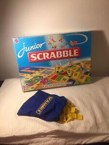 Mattel Junior Scrabble 1999 Bag And Letter Tiles - ALL 84 TILES!