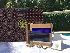 TORY BURCH COLOR CUBE MINAUDIERE CLUTCH BLUE MULTI NWT $350 & GIFT BAG
