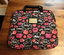 "BETSEYVILLE Betsey Johnson 14 1/2"" Black & White, Pink Laptop~Tablet Sleeve"