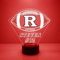 Rutgers Scarlet Knights Personalized, College Football LED Sports Fan Lamp Gift