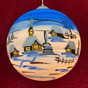 Leuchtkugel Fensterkugel XXL elektrische Riesenkugel aus Glas Handarbeit Lauscha