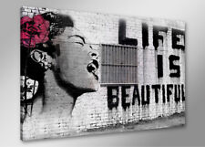Bilder auf Leinwand bansky 4166 80 x 60 cm neu Alle Wandbilder fertig gerahmt