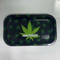 "Rolling Tray 10.5"" Inch x 6.25"" Inch Herb Tobacco Herbal Amsterdam USA FREE SHIP"