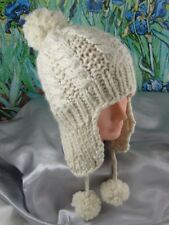 Stampato instructions-baby BIG Pompon Cavo Trapper Hat knitting pattern