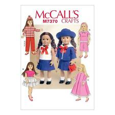 """McCALL'S SEWING PATTERN CRAFTS 18"""" REETROL DOLL CLOTHES PJ'S ROBE DRESS M7370"""