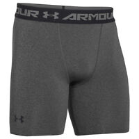 UNDER ARMOUR HEATGEAR COMPRESSION SHORT CARBON HEATHER BLACK 1257470-090 SHORTS