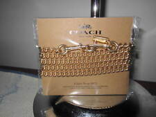 "Coach 31126 Shoulder/Crossbody Chain Strap 46""--Metal--Goldtone--MSRP $50--NWT"