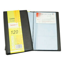 120 Cards Leather Business ID Credit Card Holder Book Case Keeper Organizer