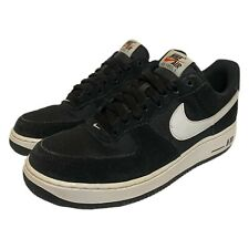 Nike Mens Air Force 1 One Black Suede Sneaker 2016 Shoes 820266-012 Size 8
