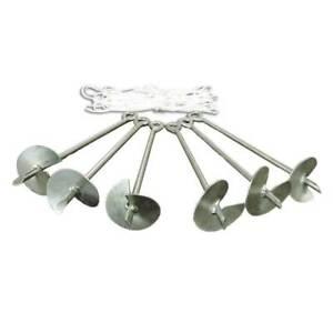 Caravan Canopy Domain Carport Anchor System Accessory, Set of 6 Metallic Anchors