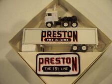 PRESTON TRUCKING THE 151 LINE REEFER 1980 TRACTOR TRAILER WINROSS COMPANY MODEL