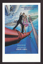 JAMES BOND POSTCARD 007 A View To A Kill (1985) U.S. USA Poster Reprint