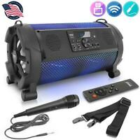 Pyle PBMSPG180 Wireless & Portable Stereo Speaker w/Built-in LED Lights 500 watt