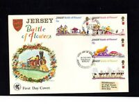 Jersey - 1970 Battle of Flowers FDC of used postage stamps