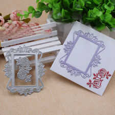 Rose Frame Metal Cutting Dies Stencil Scrapbooking Card Paper Embossing Craft
