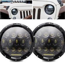 2PC 7inch Round Led Headlight DOT DRL For Jeep Wrangler Jk Tj Cj Lj Hummer H1