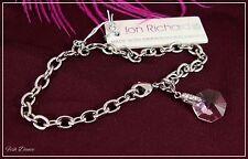 Jon Richard. Rosa De Cristal De Swarovski Plata del pulsera con dijes. billete Precio £ 15 (A1)
