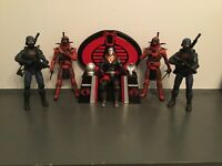 Gi joe cobra 3d printed and hand painted for cobra commander,destro for 6 inch