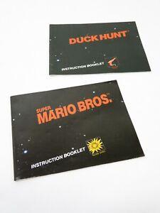 Vtg SUPER MARIO BROS & DUCK HUNT INSTRUCTION MANUAL BOOKLET Nintendo NES no game