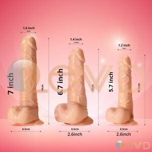 7-Inch-Waterproof-Realistic-Dildo-Suction-Cup-Men-Penis-Female-Adult-Sex-Toys
