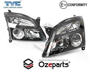 Set / Pair LH+RH Head Light Lamp (Black) For Holden Vectra ZC CDXi 2003~2006
