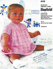 PRETTY BABY DRESS IN 4 PLY OR DOUBLE KNIT PATTERN 20/22 INCH  (287)