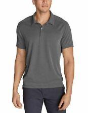 Eddie Bauer Men's Polo Short Sleeve Shirt L Dark Smoke
