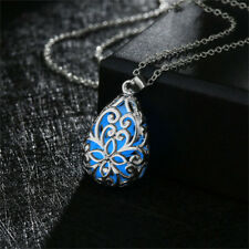 Luminous Stone Locket Pendant Necklaces Glow In The Dark Sweater Chain Necklaces